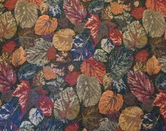 """Fall Foilage Tapestry Fabric, 4 1/4 yards 50"""" wide Final Markdown!"""
