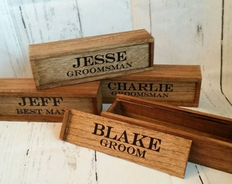 Groomsman Gift Cigar Box, Grooms Gift, Cigar Box