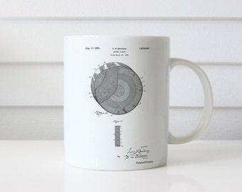 Archery Target Patent Mug, Bullseye, Archer Mug, Hunting Gift, Bow and Arrow, PP0439