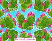 Cactus digital paper, succulent digital paper, preppy print, watercolor digital paper, pink and green digital paper, preppy paper