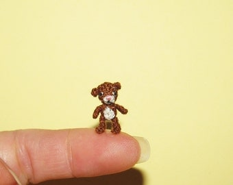 Micro bear Dollhouse Teddy bear Miniature bear handmade ooak Artist bear miniature teddybear Dollhouse miniatures Collectible bear gift idea