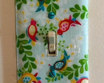 Whimsical Bird Decorative Light Switch Plates