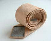 Camel Linen Necktie- Men's Tie- Groom's Tie, Prom Tie- Rustic Wedding