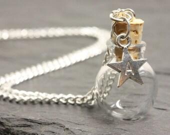 Wish ball letter star - pendant itself fillable