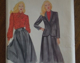 Butterick 4072, size 14, misses, womens, lined  jacket, blouse and skirt, UNCUT sewing pattern, craft supplies