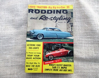 February 1958 Rodding and Re-styling Little Pages Magazine