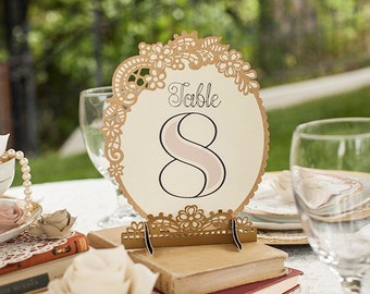 Vintage style table numbers up to 10
