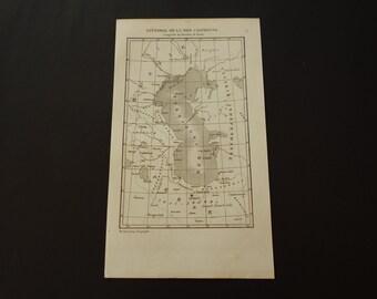 1852 CASPIAN SEA old map of the Caspian sea shoreline - original antique French print about Mazandaran - Kaspische zee Mer Caspienne vintage