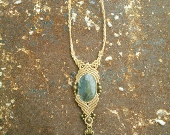 Key to the Heart magical Labraorite Tribal Gipsy Boho Bohemian Jewelry Healing Stone Collier