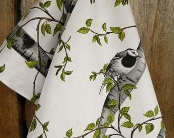 Modern Scandinavian Design Dish Towels Bird Towel Kitchen Towel Spring Towel Easter Towel Mother Day Gift For Mom Christmas Swedish Fabric