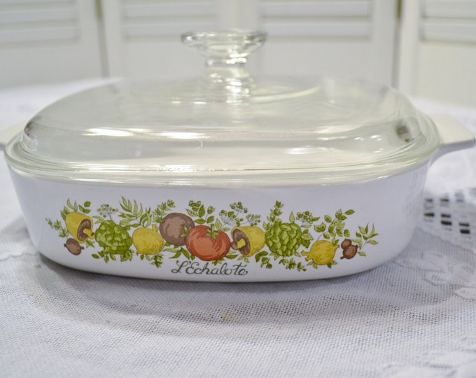 Vintage Corning Spice O Life Casserole with Lid LEchalote 8 inch A 8 B  Panchosporch