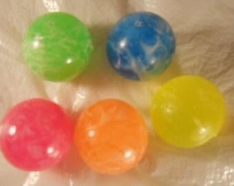 Super Bounce Balls 5 Pc Set Used