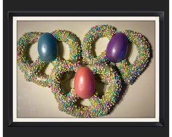 Easter Egg Chocolate covered Pretzels
