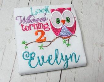 Birthday Owl Applique Shirt