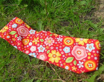 Child's red floral hairband