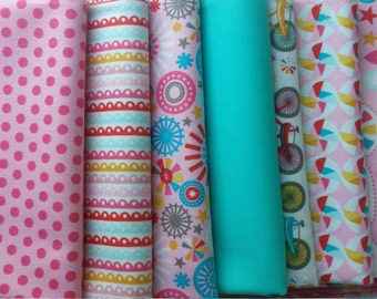 "Girl Crazy Fat Quarters by Design by Dani for Riley Blake - 8 - 18"" x 22"""