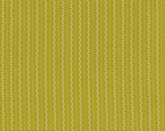 Ansonia - Fine Stripe Mossy by Denyse Schmidt for Free Spirit Fabrics, 1/2 yard, PWDS068.Mossy