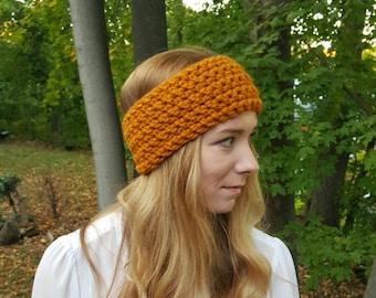 Knit Head Warmer - Mustard