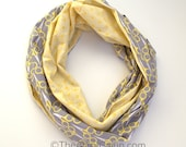 Monogrammable Scissors Gray & Yellow Honeycomb Infinity Scarf, Only store to offer these!