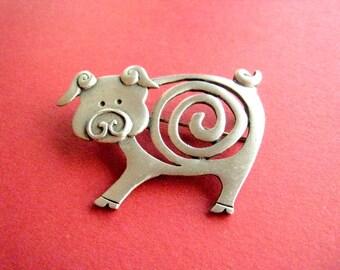 PIN pig vintage 80