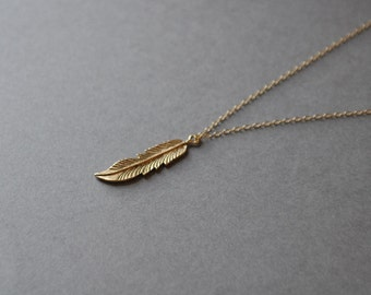 Gold Leaf Necklace Leaf pendant, Nature Necklace, Unique Necklace