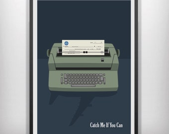 Catch me if you can minimalist movie poster