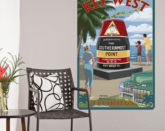 Key West Florida Southernmost Point Wall Decal - #60897