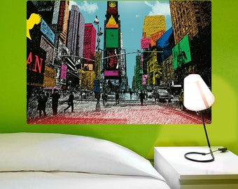 New York City Times Square Crayon Wall Decal - #69999