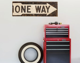 One Way Street Right Arrow Wall Decal - #54415