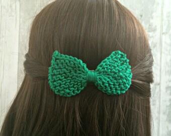 Womens Hair Accessories, 37 Colours Knit Hair Bow, Green Hair Bow, Thick Hair Clips, Hair Bows for Girls, Bow Hair Clips, Unique Hair Clips