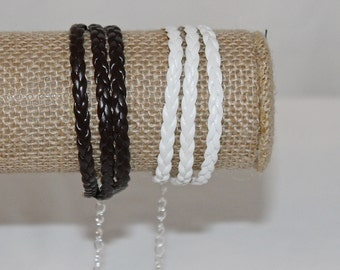 MutiLayer Friendship Trend Bracelet Brown or White 3 Layers / Rows