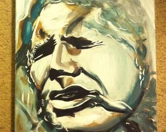 Han Solo Frozen in Carbonite Pop Art Painting 11x14