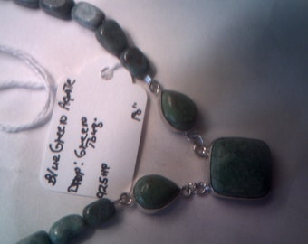 Nstural Blue Green Agate and Green  Turquoise