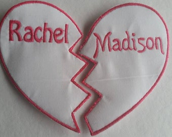 Best Friend Forever Iron On Name Patch Sew on Name Patch BFF