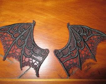 Bat wings, sew on appliques