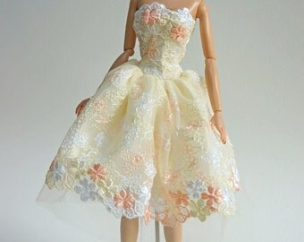 Handmade clothes outfit for FR Fashion Royalty Silkstone doll dress
