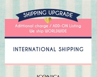 "Upgrade your ""Invitations"" purchase with INTERNATIONAL Shipping to Australia - Canada - UK or Everywhere Else"