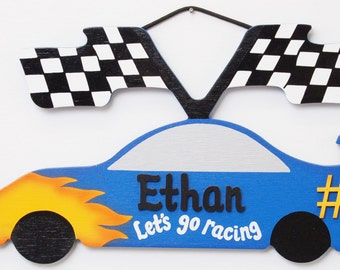 Personalized NASCAR -Kids Room Race Car