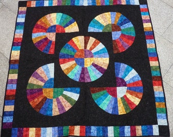 QUILT, Rainbow, AMISH Quilt, Patchwork