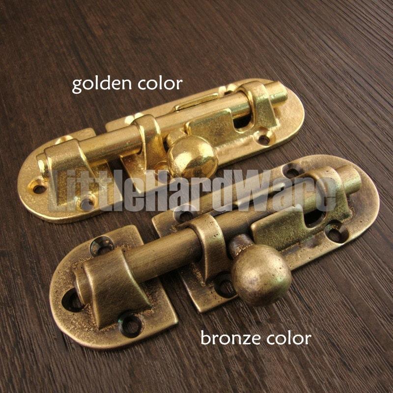 Sold by LittleHardware - Brass Made Classical Vintage Brass Door Bolt,brass Door Latch