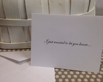 "Rude Greeting Card ""I Just Wanted To Let You Know... I Have A B#%er"" 5.5"" x 4.25"""