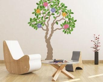 Knitted Tree Vinyl Wall Art