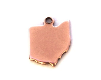 2x Rose Gold Plated Blank Ohio State Charms - M132-OH