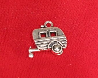 "5pc ""trailer"" charms in antique silver style (BC860)"