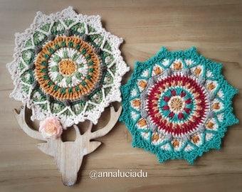 Crochet mandala, crochet patterns, mandala pattern, hanging mandala, crochet dream catcher, over lay crochet, PDF Instant Download