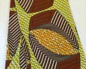 Daviva fabric - orange, green and black African print Ankara material