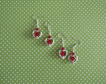 Ruby Red Swarovski Crystal Earrings