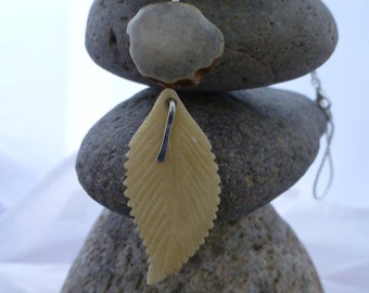 Antler and Bone Feather Necklace