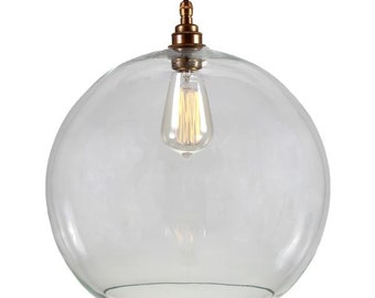 Eden 35cm Clear Sphere Pendant
