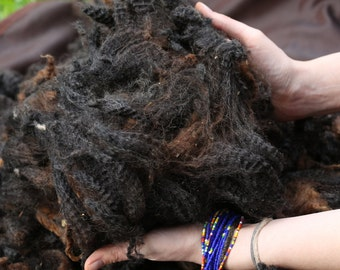 Whole Dark chocolate romney fleece